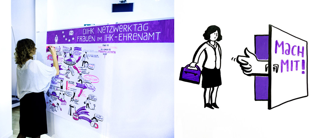 Gabriele Heinzel DIHK Netzwerktag Graphic Recording