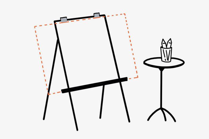 Graphic Recording Setup Gabriele Heinzel
