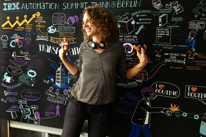 IBM-Automation Summit Gabriele heinzel Graphic Recording
