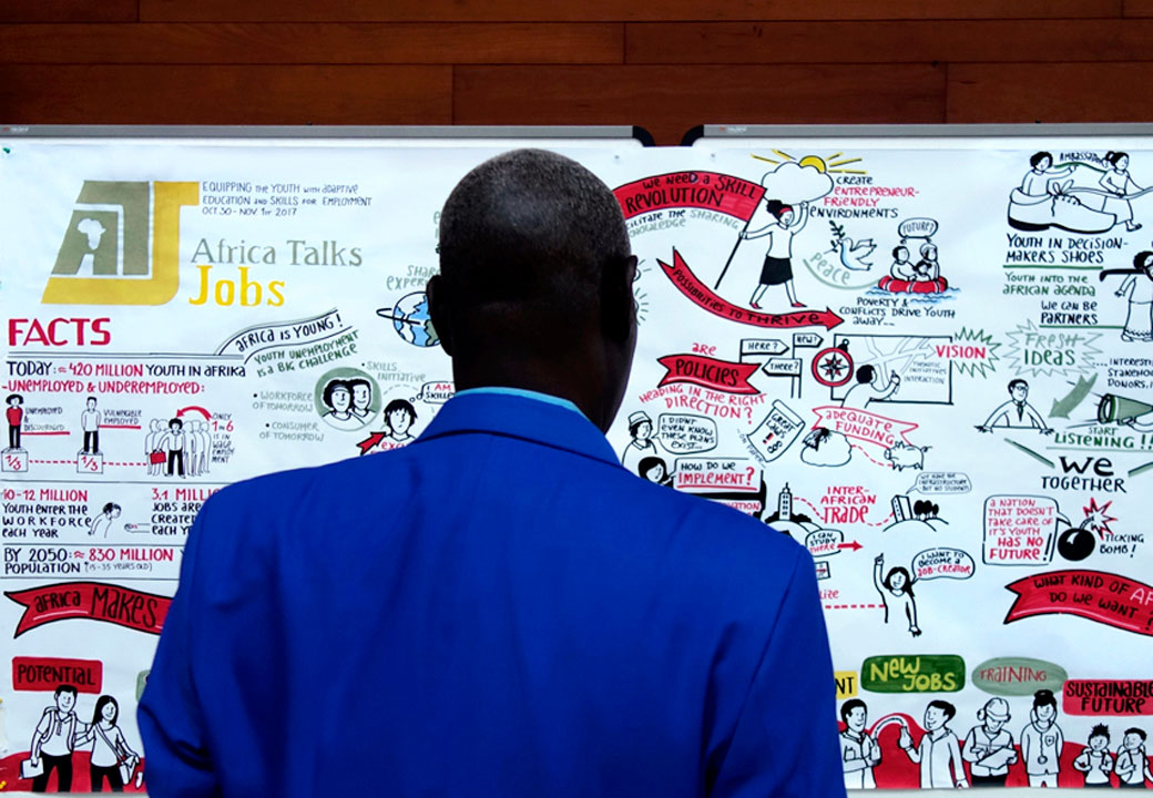Africa Talks Jobs Conference Graphic Recording