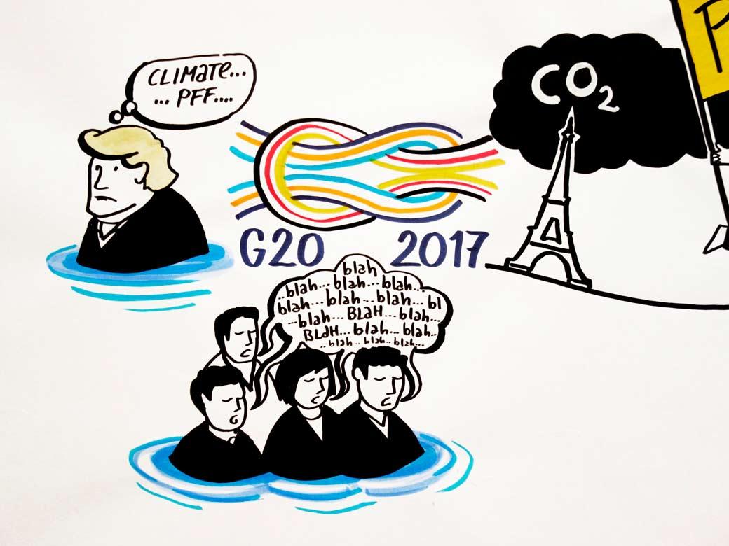Graphic Recording Trump Klima G20