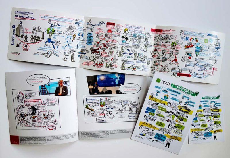 Flyer, Broschüre, Postkarte Graphic Recording Heinzel