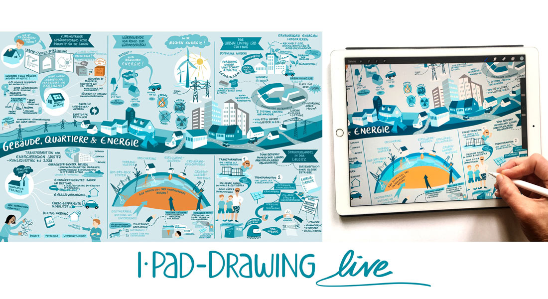 Gabriele Heinzel - Graphic Recording - iPad Drawing